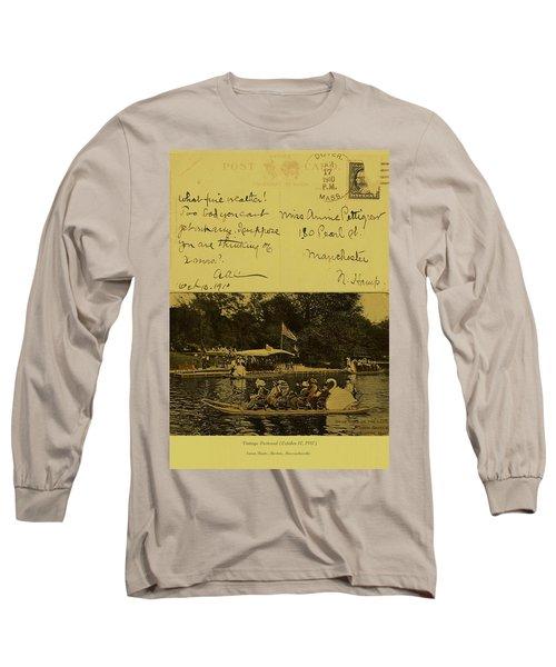 Vintage Postcard  October 10 1910 Long Sleeve T-Shirt
