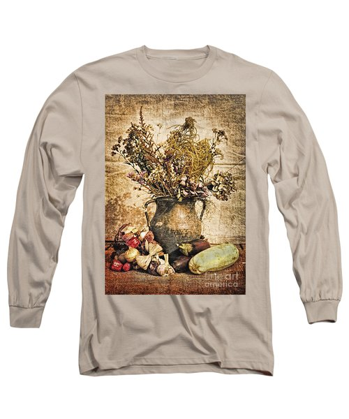 Vintage Still Life - Antique Grunge Long Sleeve T-Shirt