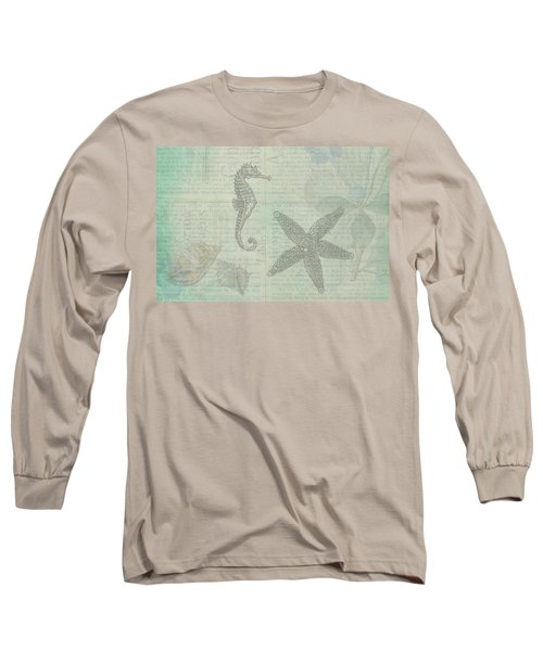 Vintage Under The Sea Long Sleeve T-Shirt by Peggy Collins