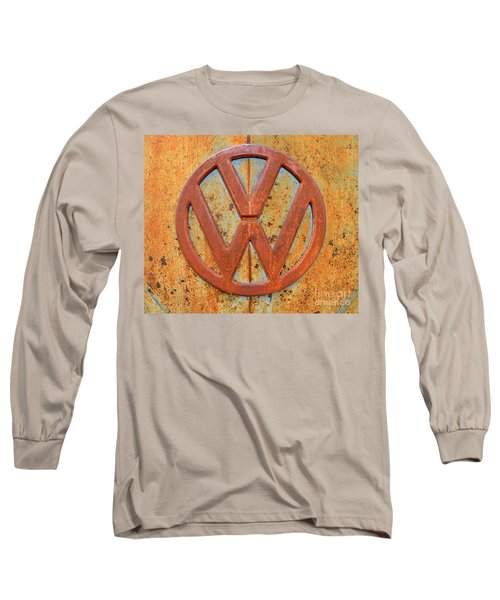 Vintage Volkswagen Bus Logo Long Sleeve T-Shirt