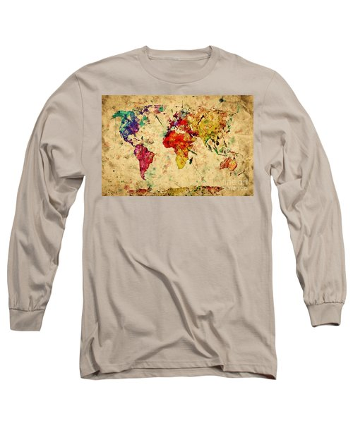 Vintage World Map Long Sleeve T-Shirt