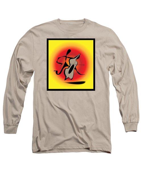 Long Sleeve T-Shirt featuring the digital art Viola by Iris Gelbart