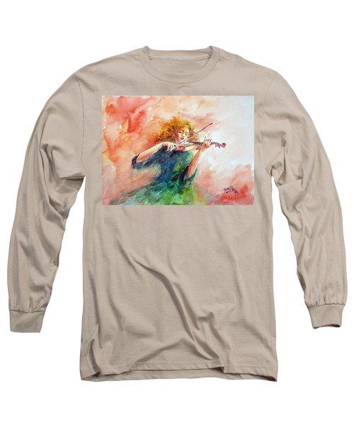Violinist Long Sleeve T-Shirt by Faruk Koksal