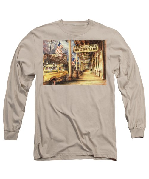 Virginia City Nevada - Western Art Painting Long Sleeve T-Shirt