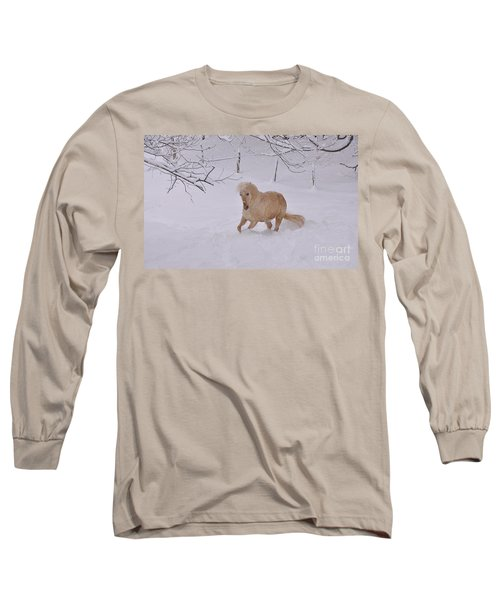 Viva Zapata Contratercero Dances In The Snow Long Sleeve T-Shirt by Patricia Keller