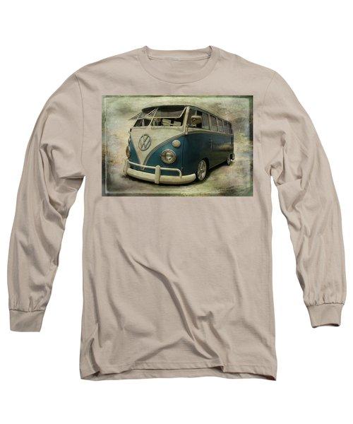 Vw Bus On Display Long Sleeve T-Shirt by Athena Mckinzie