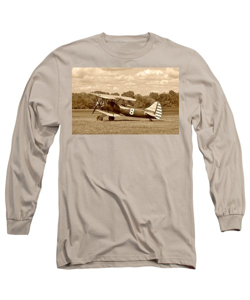 Long Sleeve T-Shirt featuring the photograph Waco Upf-7 by Jean Goodwin Brooks