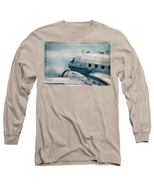 Waiting For Take Off Long Sleeve T-Shirt by Steven Bateson