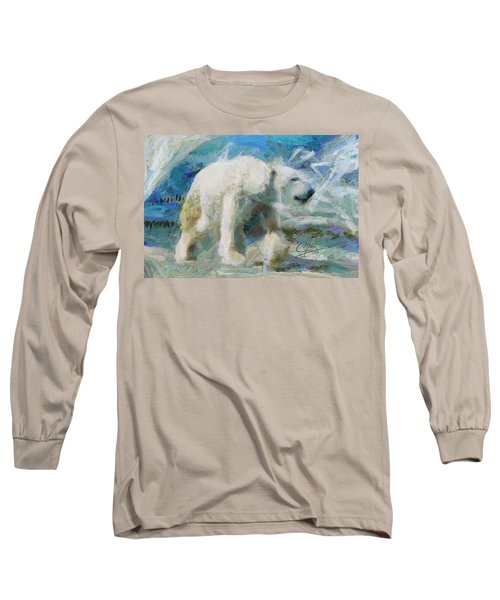 Long Sleeve T-Shirt featuring the painting Cold As Ice by Greg Collins