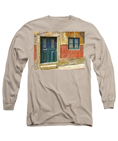Long Sleeve T-Shirt featuring the painting Walking Through Vila De Conde by Michael Pickett