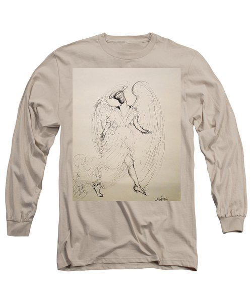 Walking With An Angel Long Sleeve T-Shirt