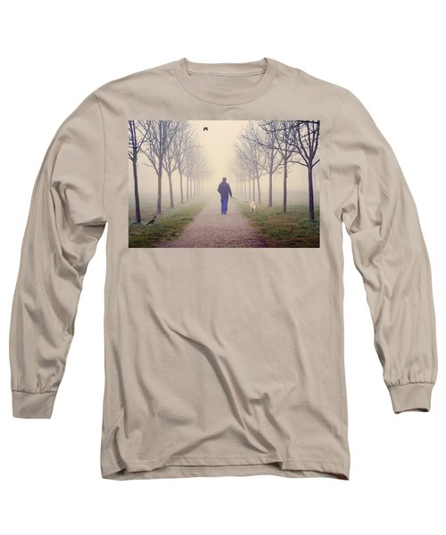 Walking With The Dog Long Sleeve T-Shirt