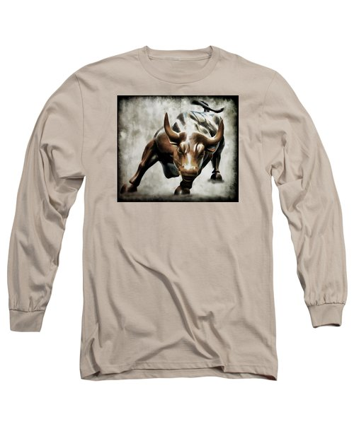 Wall Street Bull II Long Sleeve T-Shirt