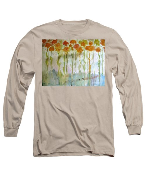 Long Sleeve T-Shirt featuring the painting Waltz Of The Flowers by Sandy McIntire