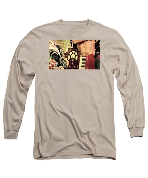 Long Sleeve T-Shirt featuring the mixed media War Dreams by Ally  White