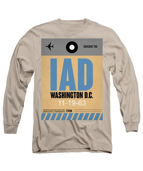 Washington D.c. Airport Poster 3 Long Sleeve T-Shirt by Naxart Studio