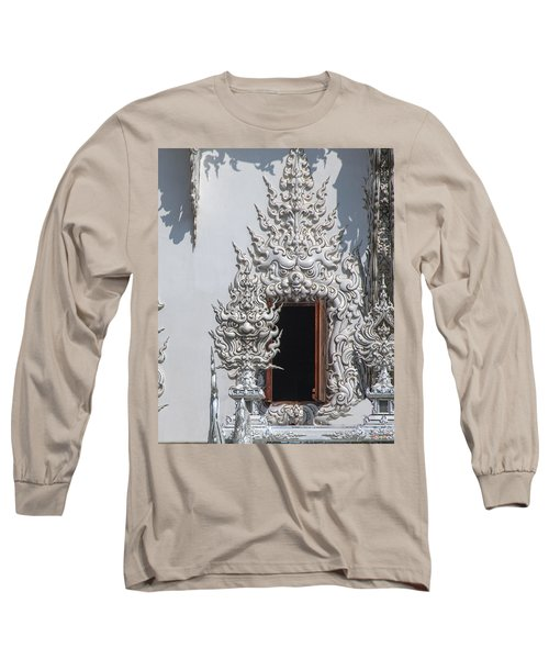 Wat Rong Khun Ubosot Window Dthcr0042 Long Sleeve T-Shirt