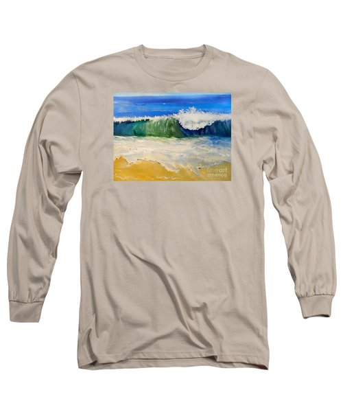 Watching The Wave As Come On The Beach Long Sleeve T-Shirt