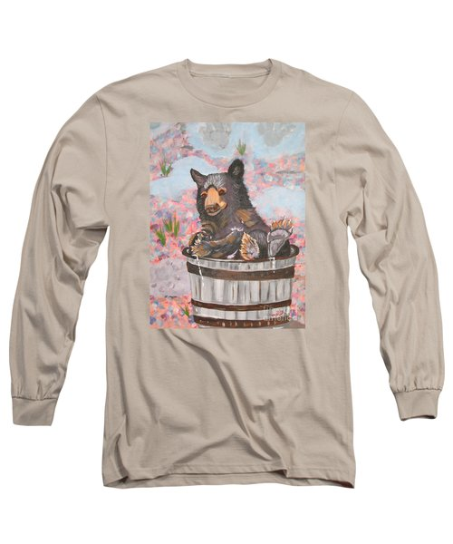 Long Sleeve T-Shirt featuring the painting Water Bear by Phyllis Kaltenbach