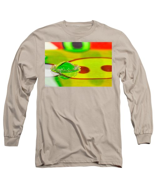 Long Sleeve T-Shirt featuring the photograph Water Crown by Peter Lakomy