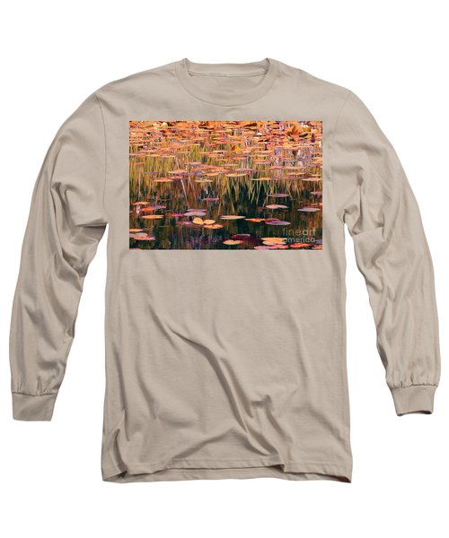 Water Lilies Re Do Long Sleeve T-Shirt by Chris Anderson