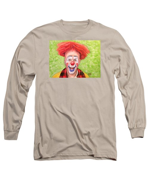 Watercolor Clown #8 Steve Copeland Long Sleeve T-Shirt