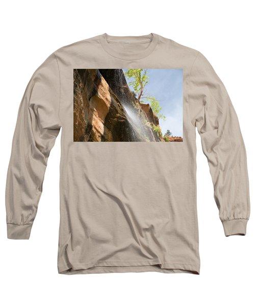 Waterfall Zion National Park Long Sleeve T-Shirt