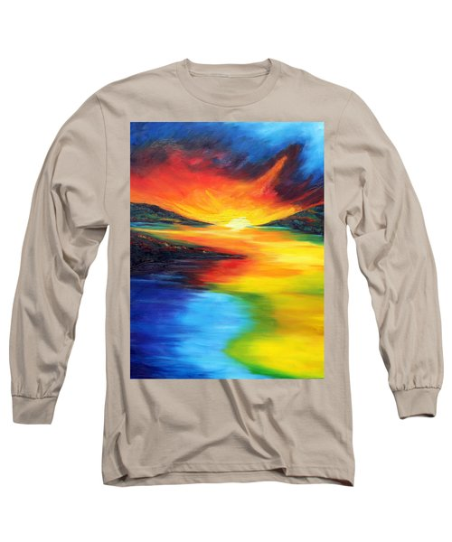 Long Sleeve T-Shirt featuring the painting Waters Of Home by Meaghan Troup