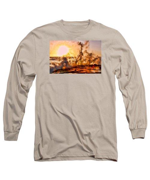Wave Crasher La Jolla By Diana Sainz Long Sleeve T-Shirt