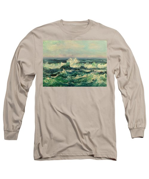 Waves Painting Long Sleeve T-Shirt