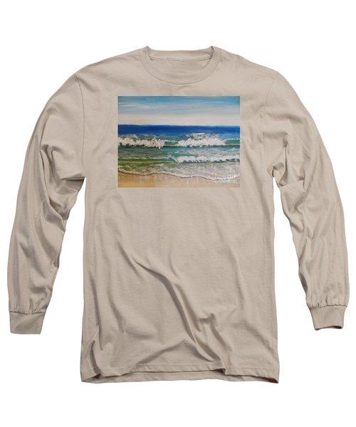 Waves Long Sleeve T-Shirt by Pamela  Meredith