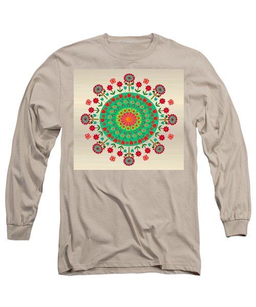 Wayuu Art Garden Long Sleeve T-Shirt by Gabriela Delgado