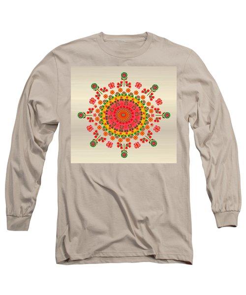 Wayuu Art Happiness Long Sleeve T-Shirt by Gabriela Delgado