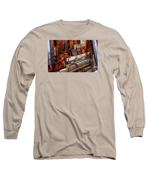 Weathered Rims And Chains Long Sleeve T-Shirt