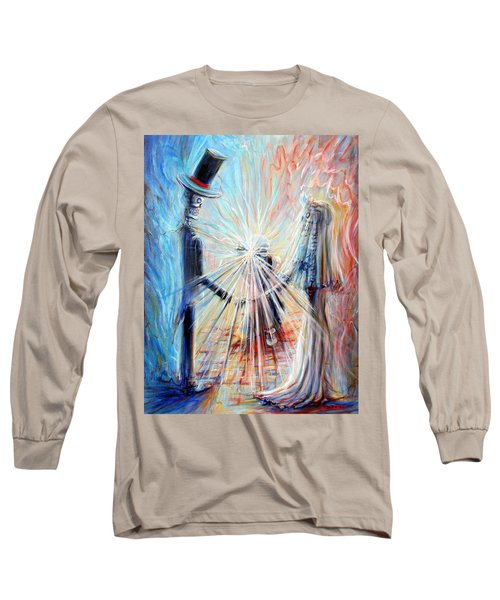 Long Sleeve T-Shirt featuring the painting Wedding Photographer by Heather Calderon