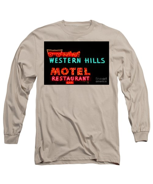 Western Hills Motel Sign Long Sleeve T-Shirt