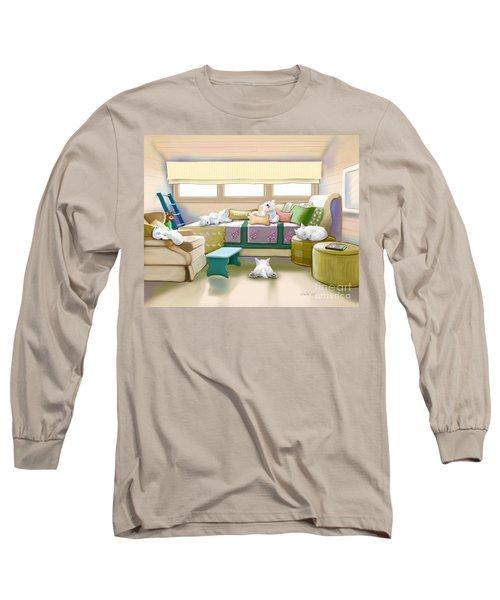 Westie Retreat  Long Sleeve T-Shirt by Catia Cho