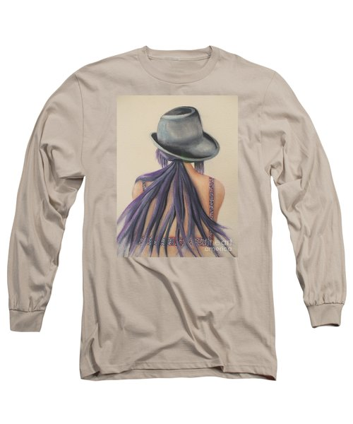 Long Sleeve T-Shirt featuring the painting What Lies Ahead Series After The Loss Of My Husband  by Chrisann Ellis