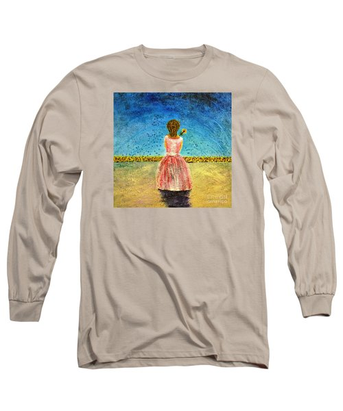 Long Sleeve T-Shirt featuring the painting Where Angels Sleep by Therese Alcorn