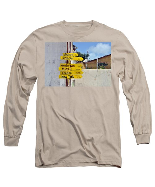 Where Should I Go Next Long Sleeve T-Shirt