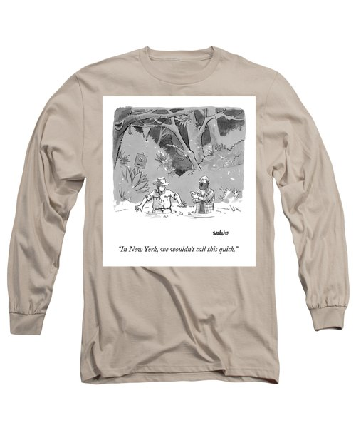 While Sinking In Quicksand Beside A Park Ranger Long Sleeve T-Shirt