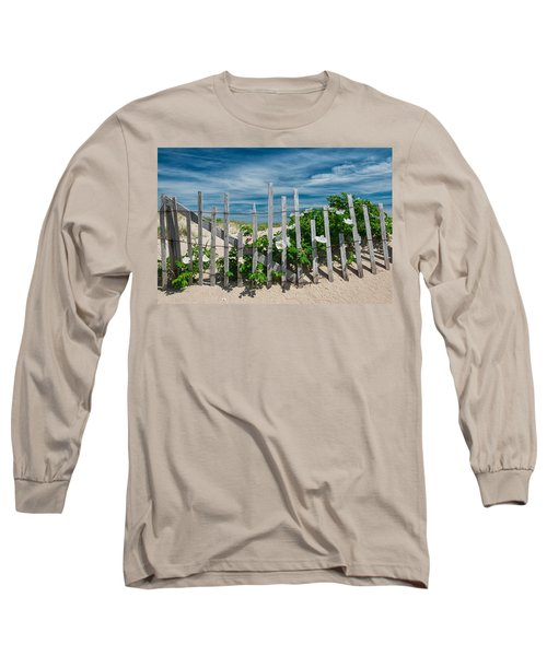 White Beach Roses Long Sleeve T-Shirt