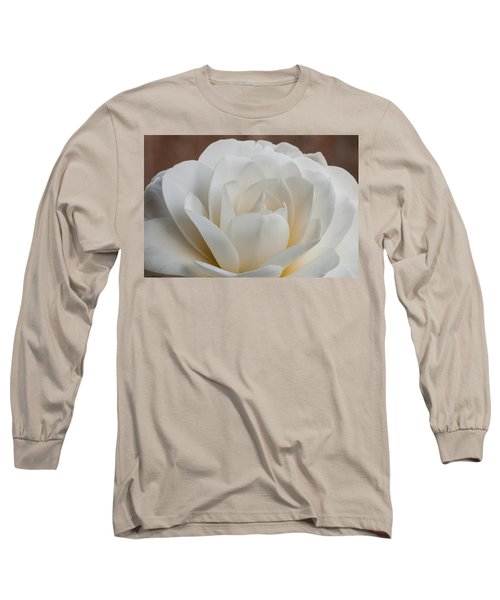 White Camellia Long Sleeve T-Shirt