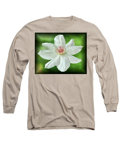 White Clematis Long Sleeve T-Shirt