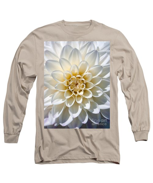 Long Sleeve T-Shirt featuring the photograph White Dahlia by Carsten Reisinger
