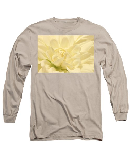 White Dahlia Dreams Long Sleeve T-Shirt