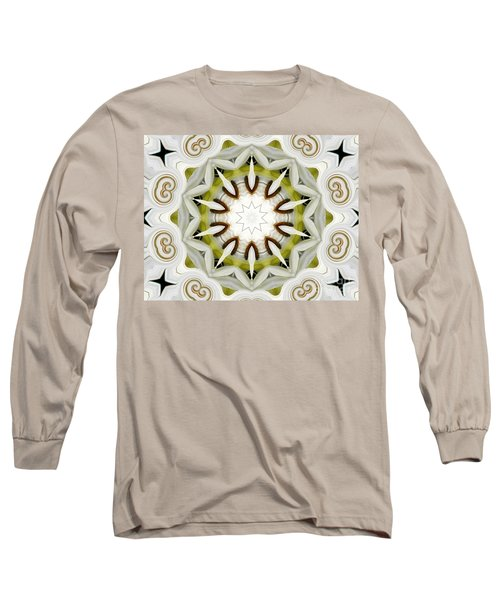 Long Sleeve T-Shirt featuring the photograph White Daisies Kaleidoscope by Rose Santuci-Sofranko