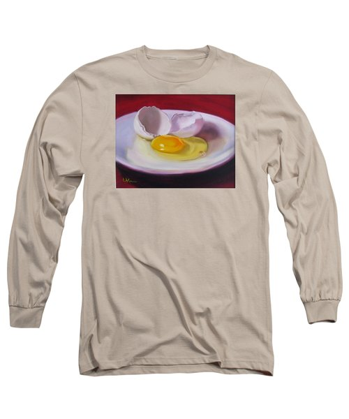 White Egg Study Long Sleeve T-Shirt by LaVonne Hand