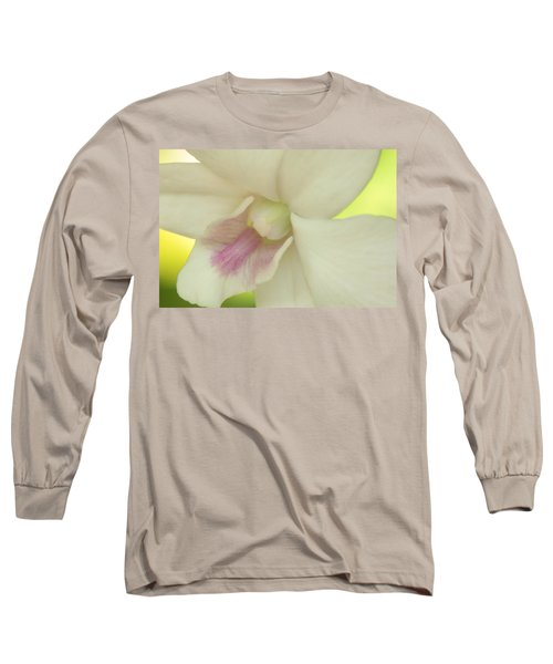 White Orchid Long Sleeve T-Shirt by Greg Allore