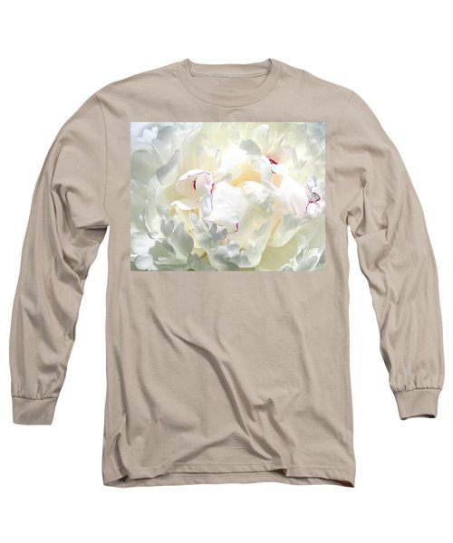 White Peony Long Sleeve T-Shirt by Will Borden
